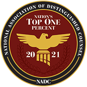 National Association of Distinguished Counsel –Nation's Top One Percent 2021